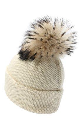 Женская кашемировая шапка INVERNI белого цвета, арт. 5080CM | Фото 2