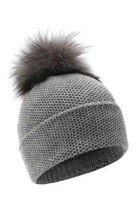 Женский кашемировая шапка INVERNI серого цвета, арт. 5080CM   Фото 1
