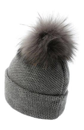 Женский кашемировая шапка INVERNI серого цвета, арт. 5080CM   Фото 2