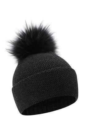Женский кашемировая шапка INVERNI темно-серого цвета, арт. 5080CM   Фото 1