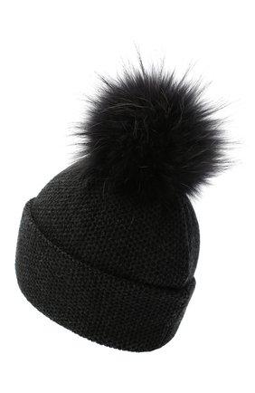 Женский кашемировая шапка INVERNI темно-серого цвета, арт. 5080CM   Фото 2