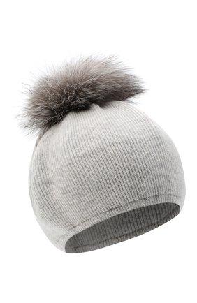 Женский шапка из шерсти и кашемира INVERNI светло-серого цвета, арт. 5081CM   Фото 1