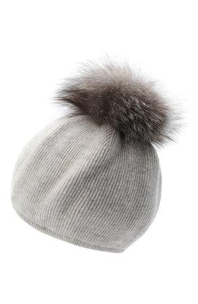 Женский шапка из шерсти и кашемира INVERNI светло-серого цвета, арт. 5081CM   Фото 2