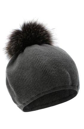 Женский шапка из шерсти и кашемира INVERNI темно-серого цвета, арт. 5081CM   Фото 1