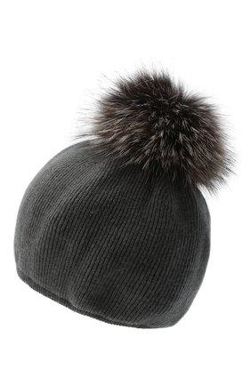 Женский шапка из шерсти и кашемира INVERNI темно-серого цвета, арт. 5081CM   Фото 2