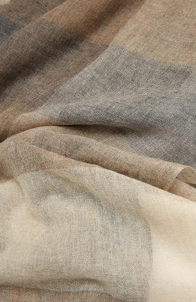 Женская кашемировый палантин FALIERO SARTI бежевого цвета, арт. I21 0325 | Фото 2