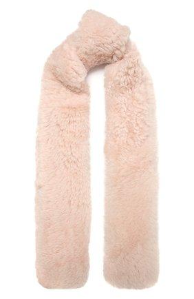 Женский шарф YVES SALOMON светло-розового цвета, арт. 21WAA812XXAGXX   Фото 1