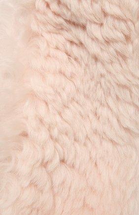 Женский шарф YVES SALOMON светло-розового цвета, арт. 21WAA812XXAGXX   Фото 2