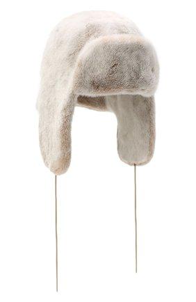 Женская шапка-ушанка из меха норки FURLAND бежевого цвета, арт. 0231200150085300700   Фото 1