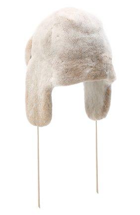 Женская шапка-ушанка из меха норки FURLAND бежевого цвета, арт. 0231200150085300700   Фото 2