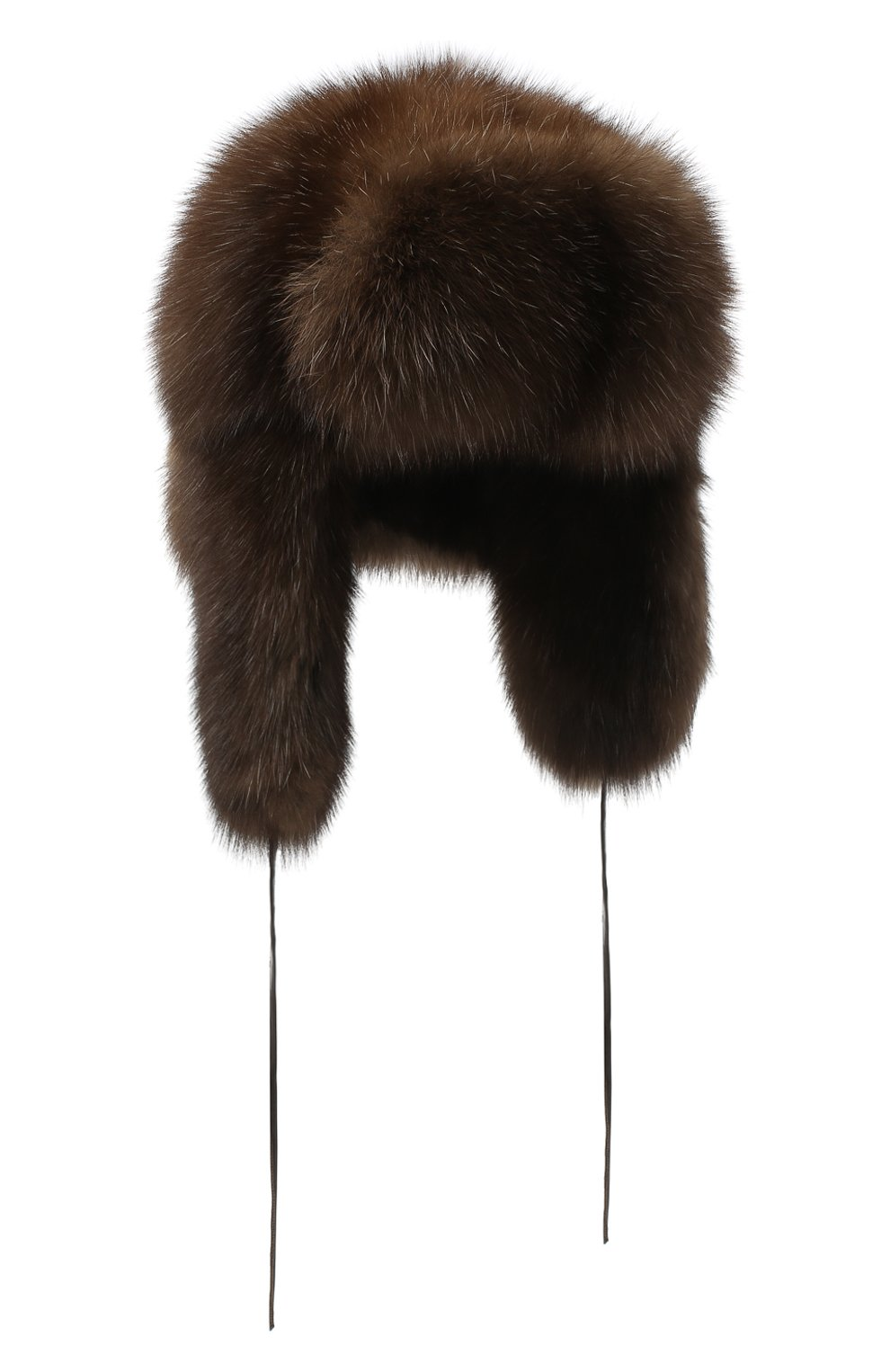 Женская шапка-ушанка из меха соболя FURLAND коричневого цвета, арт. 0098001910030100000 | Фото 1