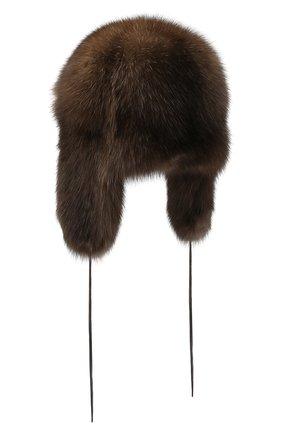 Женская шапка-ушанка из меха соболя FURLAND коричневого цвета, арт. 0098001910030100000 | Фото 2