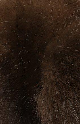 Женская шапка-ушанка из меха соболя FURLAND коричневого цвета, арт. 0098001910030100000 | Фото 3