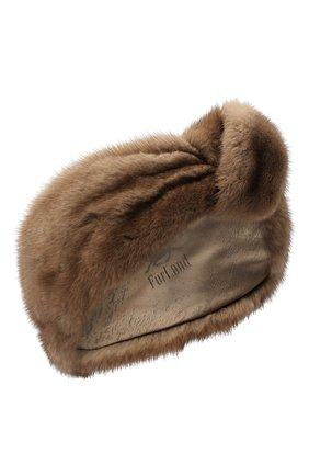 Женская повязка из меха норки FURLAND коричневого цвета, арт. 0227800110083600941 | Фото 1