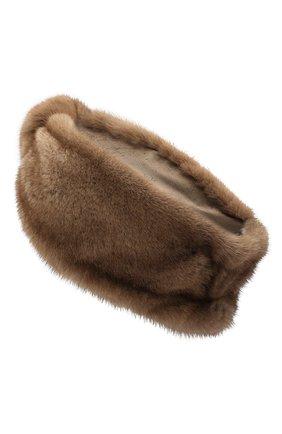 Женская повязка из меха норки FURLAND коричневого цвета, арт. 0227800110083600941 | Фото 2