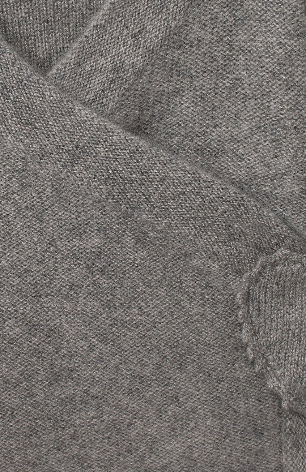 Детский кашемировый кардиган OSCAR ET VALENTINE серого цвета, арт. BRA04 | Фото 3