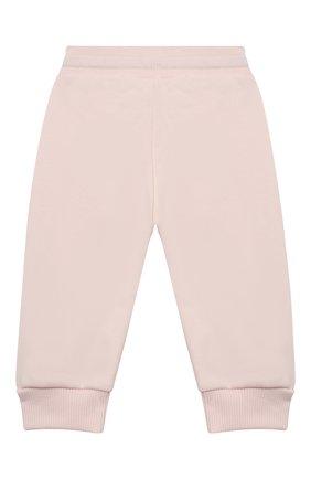 Детские хлопковые джоггеры GIVENCHY светло-розового цвета, арт. H04089 | Фото 2