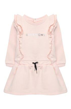 Женский хлопковое платье GIVENCHY светло-розового цвета, арт. H02061 | Фото 1
