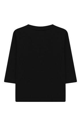 Детский хлопковый лонгслив GIVENCHY черного цвета, арт. H05141 | Фото 2