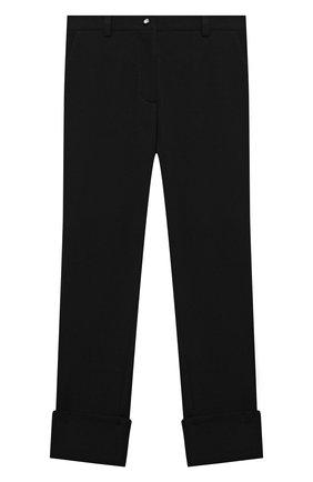 Детские брюки DESIGNERS CAT черного цвета, арт. 100000K01000634/10A-12A | Фото 1 (Материал внешний: Синтетический материал; Девочки Кросс-КТ: Брюки-одежда; Ростовка одежда: 10 - 11 лет | 140 - 146см, 12 лет | 152 см)
