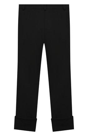 Детские брюки DESIGNERS CAT черного цвета, арт. 100000K01000634/10A-12A | Фото 2 (Материал внешний: Синтетический материал; Девочки Кросс-КТ: Брюки-одежда; Ростовка одежда: 10 - 11 лет | 140 - 146см, 12 лет | 152 см)