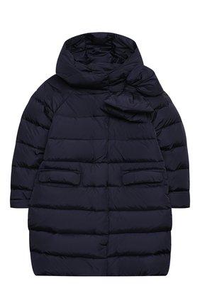 Детское пуховое пальто IL GUFO темно-синего цвета, арт. A20GP262N0031/10A-12A   Фото 1