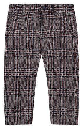 Детские хлопковые брюки IL GUFO бордового цвета, арт. A20PL294M5033/2A-4A | Фото 1 (Материал внешний: Хлопок; Мальчики Кросс-КТ: Брюки-одежда; Ростовка одежда: 2 года | 92 см, 3 года | 98 см)