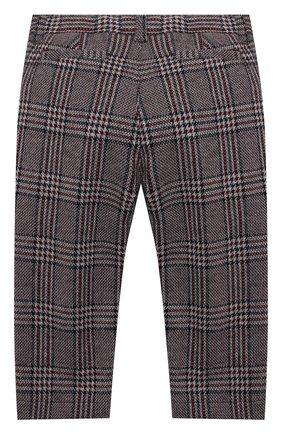 Детские хлопковые брюки IL GUFO бордового цвета, арт. A20PL294M5033/2A-4A | Фото 2 (Материал внешний: Хлопок; Мальчики Кросс-КТ: Брюки-одежда; Ростовка одежда: 2 года | 92 см, 3 года | 98 см)