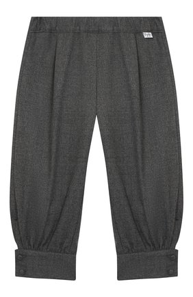 Детские брюки IL GUFO серого цвета, арт. A20PL315WR003/5A-8A | Фото 1