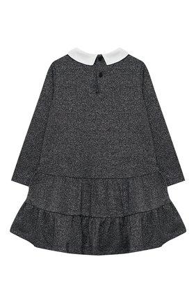 Детское платье IL GUFO темно-синего цвета, арт. A20VL401M0087/2A-4A   Фото 2 (Рукава: Длинные; Материал внешний: Синтетический материал; Случай: Повседневный; Ростовка одежда: 3 года   98 см)