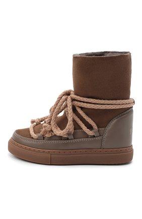 Детские кожаные ботинки INUIKII серого цвета, арт. 60207-1/26-33 | Фото 2