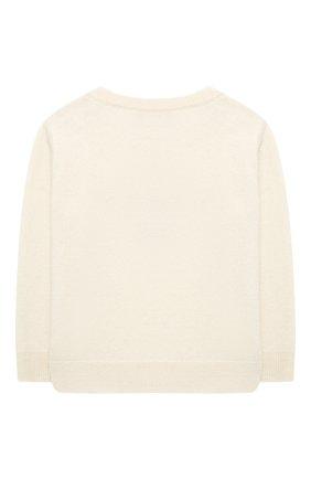Детский кашемировый пуловер OSCAR ET VALENTINE бежевого цвета, арт. PUL01LUCKYMES | Фото 2