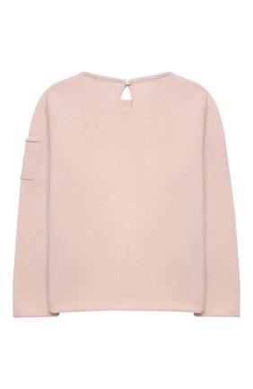 Детский кашемировый пуловер OSCAR ET VALENTINE розового цвета, арт. PUL01DOGM | Фото 2
