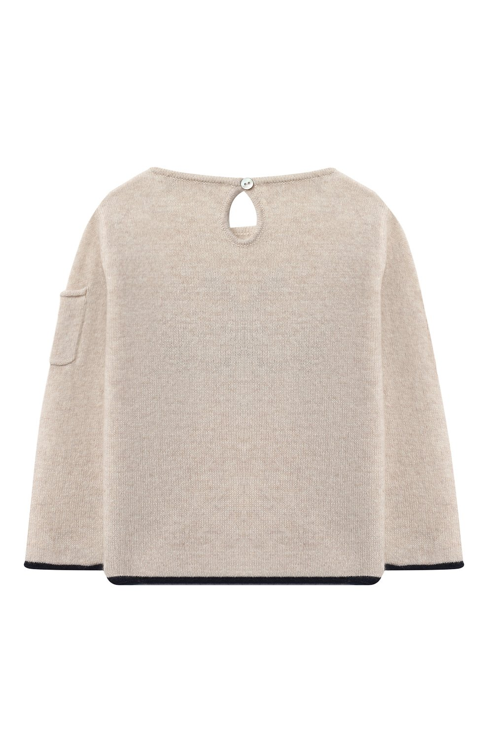 Детский кашемировый пуловер OSCAR ET VALENTINE бежевого цвета, арт. PUL01ROCKS | Фото 2