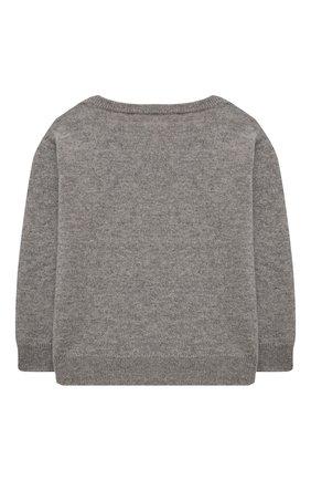 Детский кашемировый пуловер OSCAR ET VALENTINE серого цвета, арт. PUL01LUCKYMEM | Фото 2