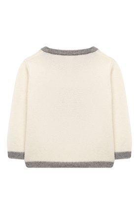 Детский кашемировый пуловер OSCAR ET VALENTINE бежевого цвета, арт. PULBEAR1S | Фото 2