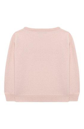Детский кашемировый пуловер OSCAR ET VALENTINE розового цвета, арт. PUL01LUCKYMEM | Фото 2