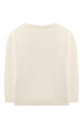 Детский кашемировый пуловер OSCAR ET VALENTINE бежевого цвета, арт. PUL01LUCKYMEM | Фото 2