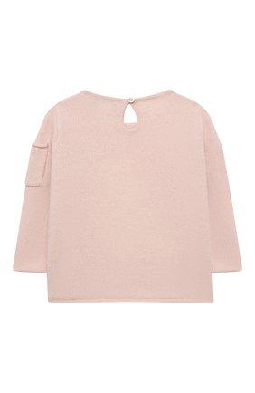 Детский кашемировый пуловер OSCAR ET VALENTINE розового цвета, арт. PUL01DOGS | Фото 2
