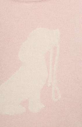 Детский кашемировый пуловер OSCAR ET VALENTINE розового цвета, арт. PUL01DOGS | Фото 3