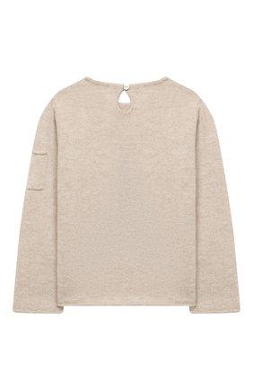 Детский кашемировый пуловер OSCAR ET VALENTINE бежевого цвета, арт. PUL01EIFFELM | Фото 2