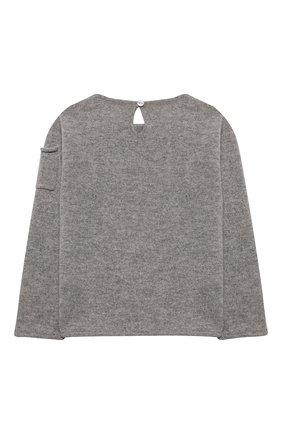 Детский кашемировый пуловер OSCAR ET VALENTINE серого цвета, арт. PUL01EIFFELM | Фото 2