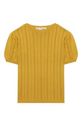 Детский кашемировый пуловер OSCAR ET VALENTINE желтого цвета, арт. TOP15 | Фото 1