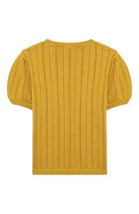 Детский кашемировый пуловер OSCAR ET VALENTINE желтого цвета, арт. TOP15 | Фото 2