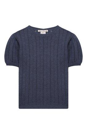 Детский кашемировый пуловер OSCAR ET VALENTINE голубого цвета, арт. TOP15 | Фото 1