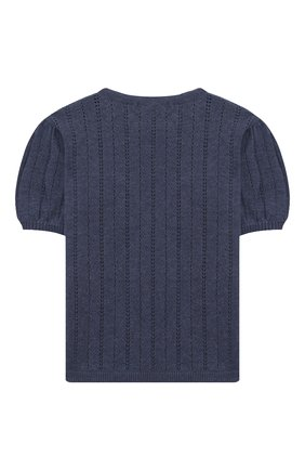 Детский кашемировый пуловер OSCAR ET VALENTINE голубого цвета, арт. TOP15 | Фото 2