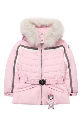 Детская куртка с капюшоном POIVRE BLANC розового цвета, арт. 279635 | Фото 1