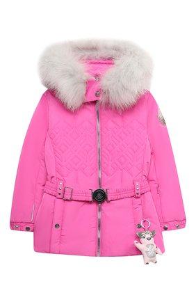 Детская куртка с капюшоном POIVRE BLANC фуксия цвета, арт. 279633   Фото 1