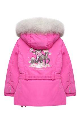 Детская куртка с капюшоном POIVRE BLANC фуксия цвета, арт. 279633   Фото 2