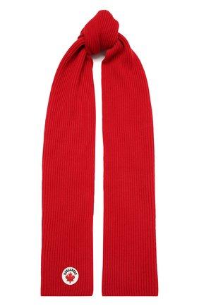 Детский шарф из шерсти и хлопка DSQUARED2 красного цвета, арт. DQ04DL-D00WC | Фото 1